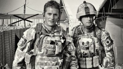 Johnny Mercer and Mark in Afghanistan
