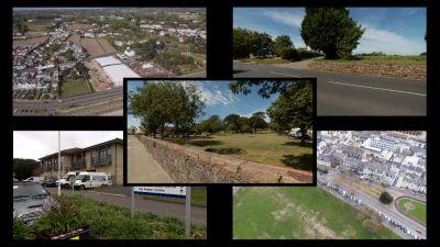 Five potential hospital sites