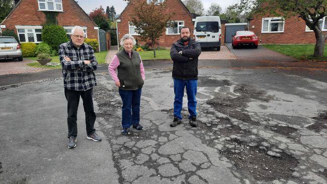 Potholes in Gloucester street
