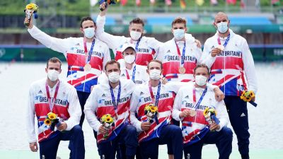 men's eight rowing medals credit PA