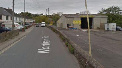 Crash on road in Bideford