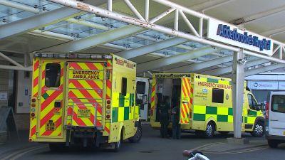 Ambulances outside Addenbrookes hospital