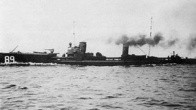 Archive photo of the lost German torpedo ship