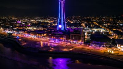 The Blackpool Tower at night