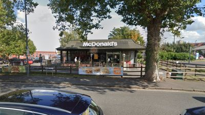 The McDonald's where the young girl was last seen before she went missing.