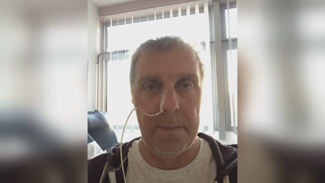 Steve Schmalenbach during his cancer treatment