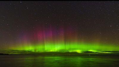 The Northern Lights as seen in Cullen, Scotland, on September 30. Photo: Euan Dalgliesh, Wild Moray Pics