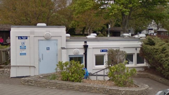 18-05-21- The public toilets at the Triangle in Sidmouth- LDRS