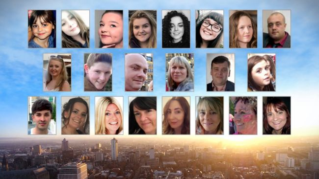 Collage image of all 22 victims of the Manchester Arena attack