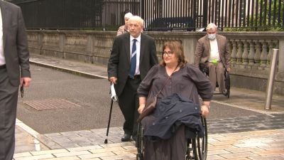 """A legal challenge is being brought by Jennifer McNern, who lost both legs in a Troubles bombing, and Brian Turley, one of the """"hooded men"""" who were arrested and interrogated by the British Army in 1971."""
