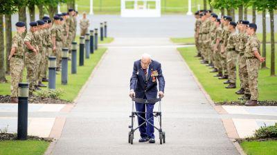 Guard of Honour for Captain Sir Tom Moore