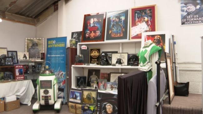 04-5-21 Items up for sale at Star Wars auction- ITV News