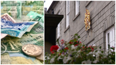 Money and States of Guernsey split screen