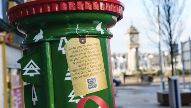 postboxes for Christmas