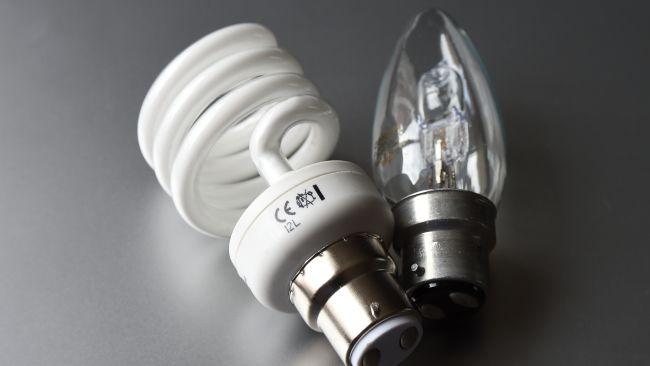 Set of lightbulbs.
