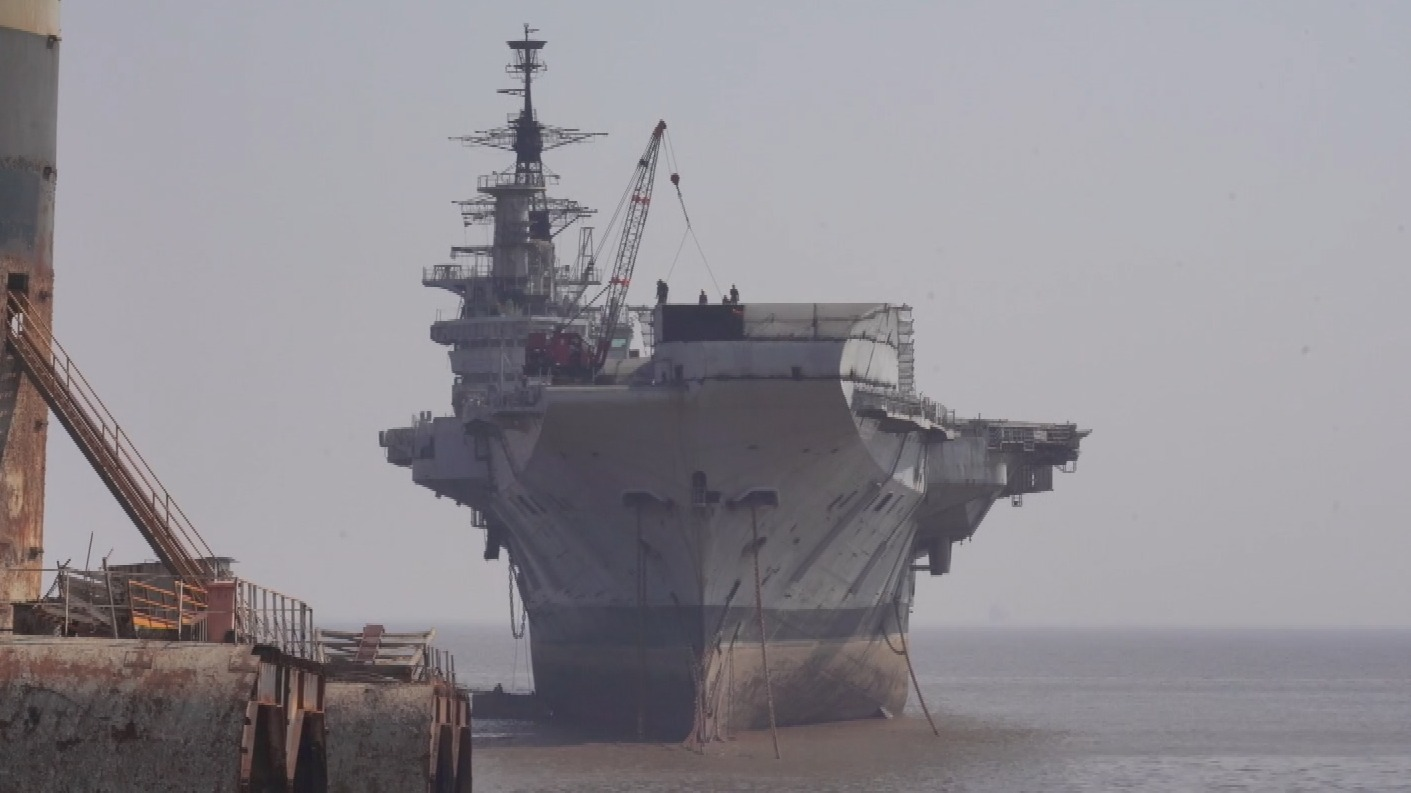 World's oldest warship HMS Hermes being decommissioned in India   ITV News