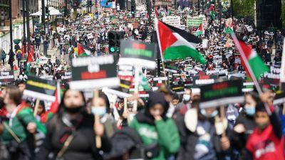 Palestine protest central London