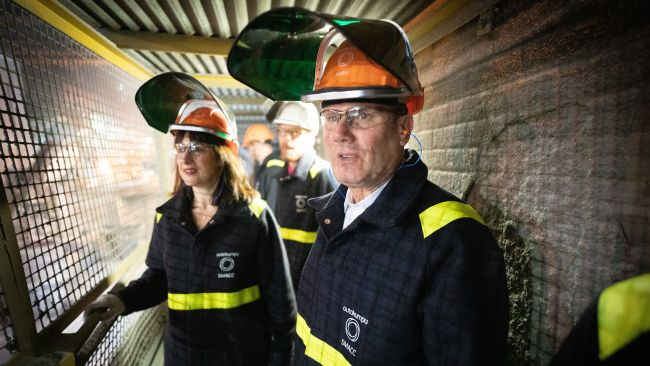 Keir Starmer on a visit to Sheffield