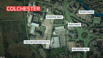 A map of colchester