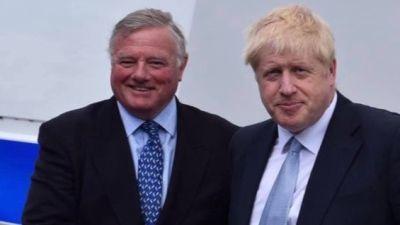Jonathon Seed and Boris Johnson