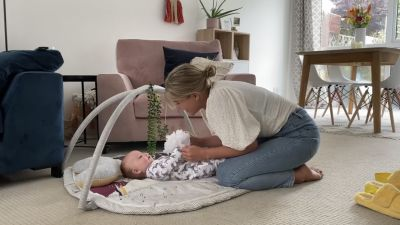 Still taken from footage of interviewee Lucia House with baby Hudson