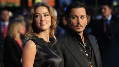 Amber Heard and Johnny Depp at a film premiere