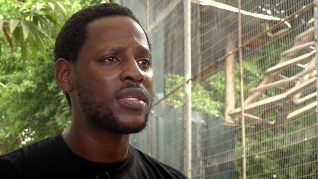 Chinedu Mogbu has rescued many animals from the wet market, ITV News.