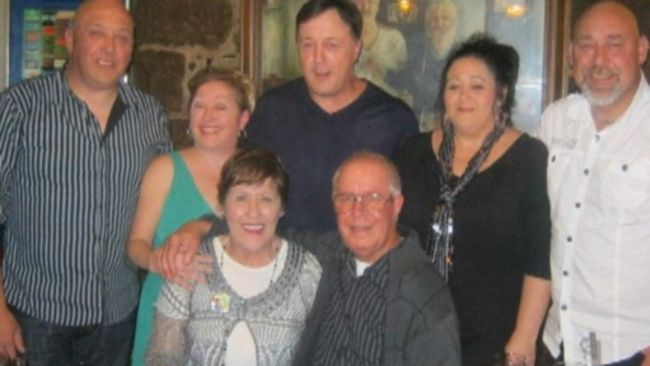 Norma Saunders with her family