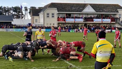 051120 - Jersey Reds in action against Newcastle Falcons at St Peter - Credit: ITV Channel TV