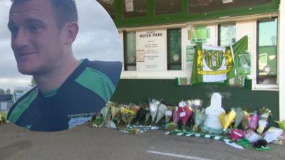 02-04-21- Flower tributes for Yeovil captain- ITV News