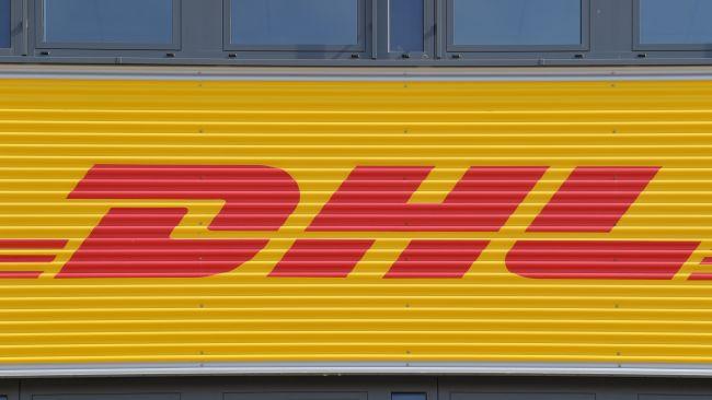 A PA image of the DHL logo