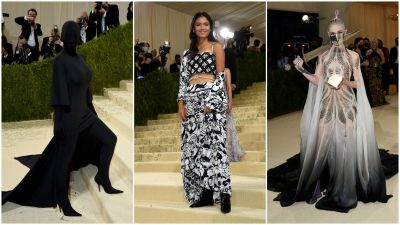 Met Gala composite - all images from AP