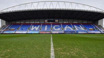 A general view of the DW Stadium, Wigan