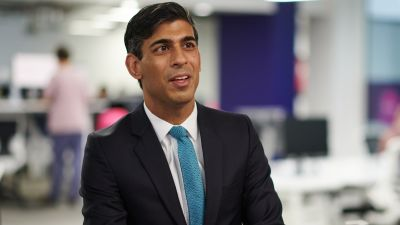 Rishi Sunak delivered his first speech as chancellor to the Tory party conference.