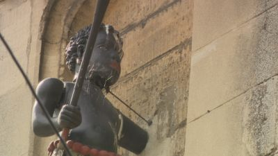 A statue of a black boy in Stroud which campaigners want removed