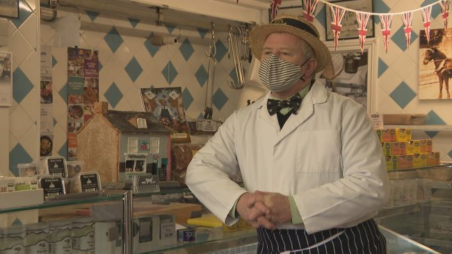 Richard Balson's family have been running the butchers in Bridport for 500 years.
