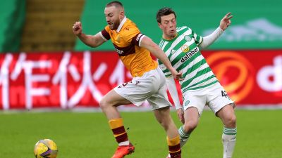 Allan Campbell in action for Motherwell.