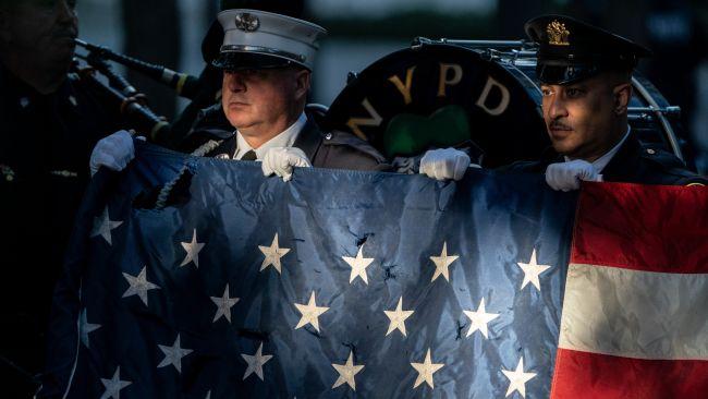 US flag 9/11 anniversary