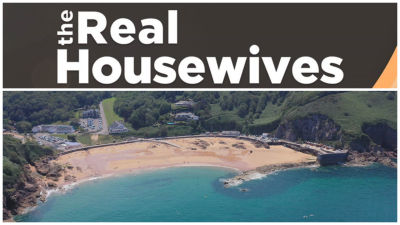 Real Housewives logo and Jersey beach