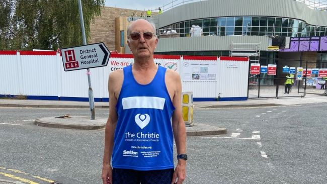 Harry Newton will run the London Marathon on Sunday, and take part in the Manchester Marathon the following week for the new Christie at Macclesfield.