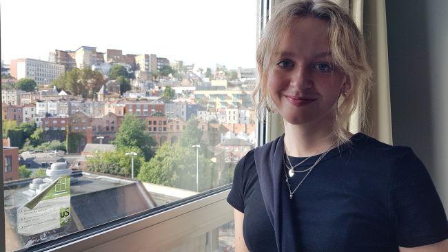 27-09-21 Maggie Dorey in her Bristol University accommodation- Martin Dorey