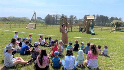 Sark's first ever public playground. Credit Rosalie La Trobe-Bateman