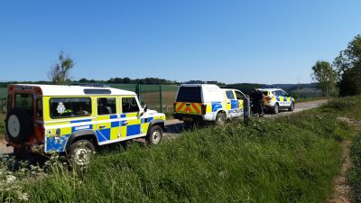 Joint anti-poaching patrols by North Yorkshire Police and Humberside Police on the Ryedale / Humberside border in May 2019.