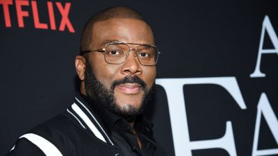 """Writer-director-actor Tyler Perry attends the premiere of Tyler Perry's """"A Fall from Grace"""" at Metrograph on Monday, Jan. 13, 2020, in New York."""