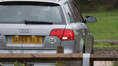 GB car sticker Andrew Matthews/PA