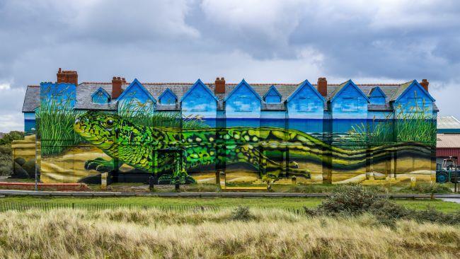 Paul Curtis mural - Ainsdale