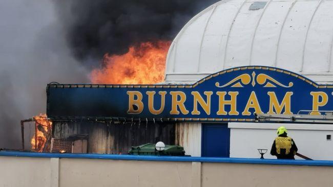 Mark crandon picture of burnham fire