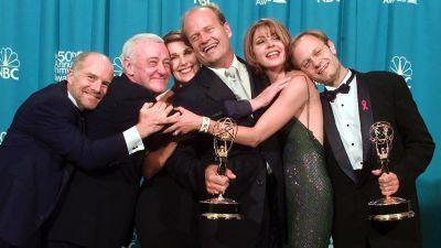 "250221 Cast members of ""Frasier,"" winner of the Emmy for Outstanding Comedy Series in 1998"