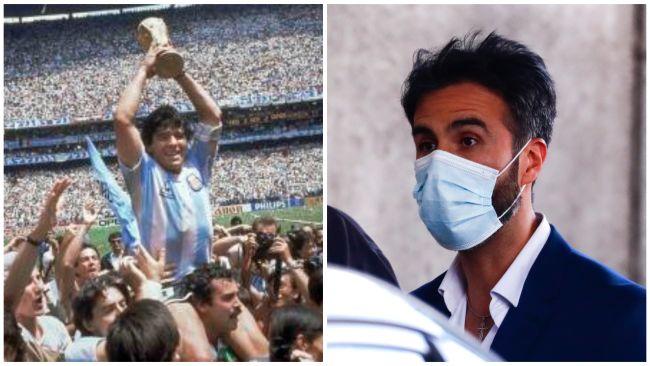 Diego Maradona and his doctor