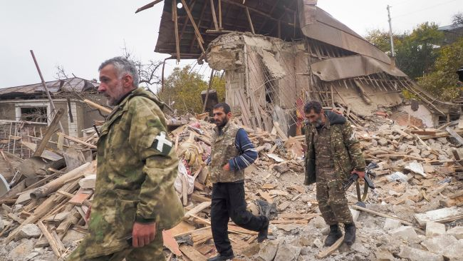 Fighting has raged for weeks in the disputed Nagorno-Karabakh region